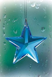 Crystal~Star 28 Sapphire Swarovski Hanging Rainbow Crystal-A stunning array of dancing light